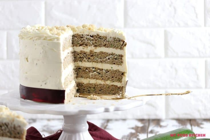 4 Layer Low Carb Zucchini Cake