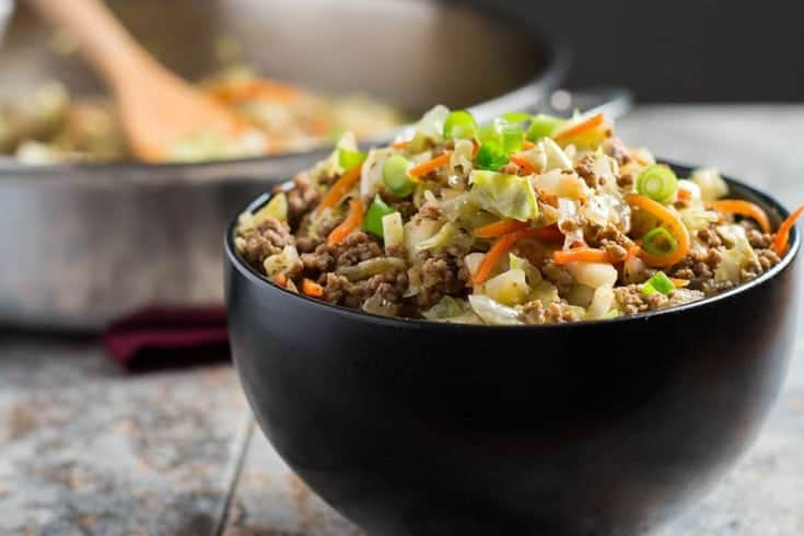 Egg Roll in a Bowl--easy, healthy, and delicious!