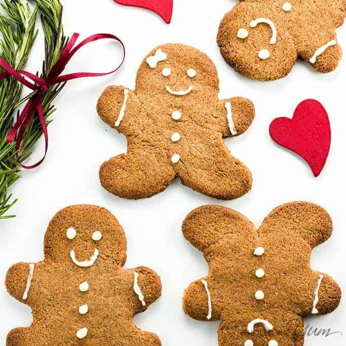 Keto Sugar-free Low Carb Gingerbread Cookies Recipe (VIDEO)