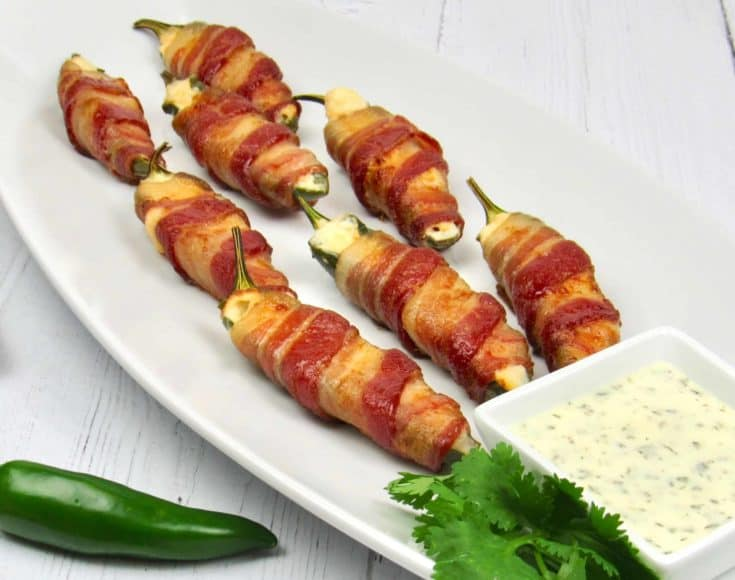 Air Fryer Bacon Wrapped Jalapeño Poppers