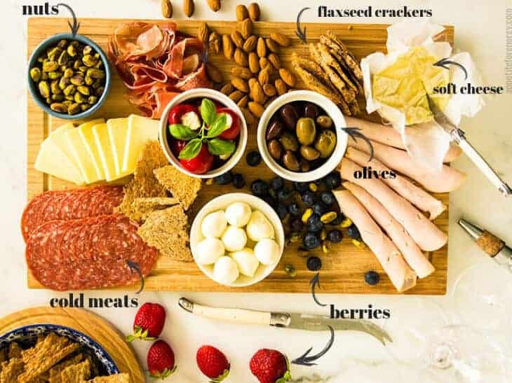 Easy Low-Carb & GF Cheese Platter