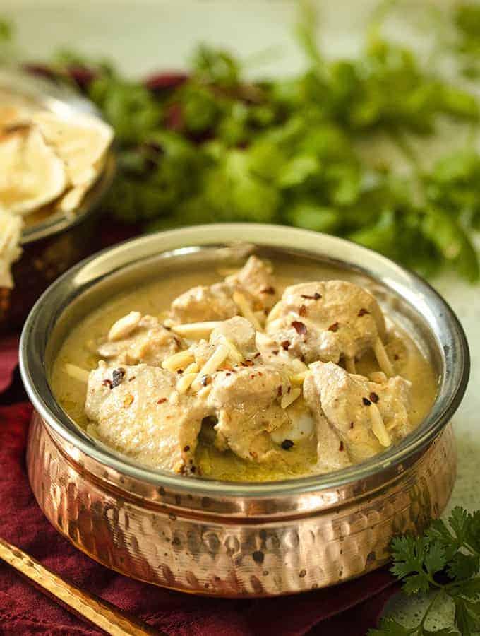 Slow Cooker Safed Chicken Korma | White Chicken Korma