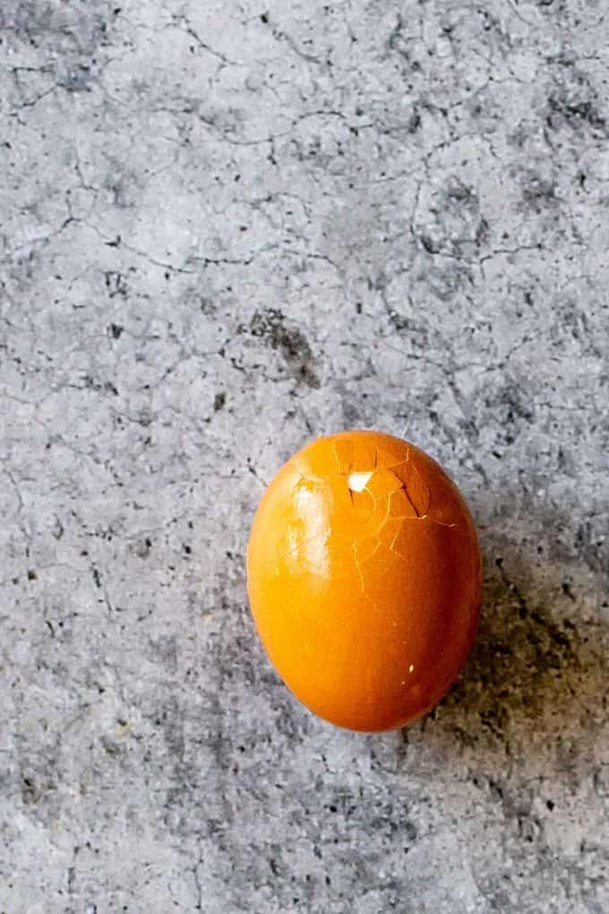 Photo of a hard boiled egg.
